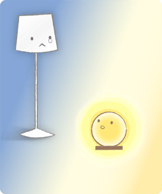 ひとつの電気だけ消えている